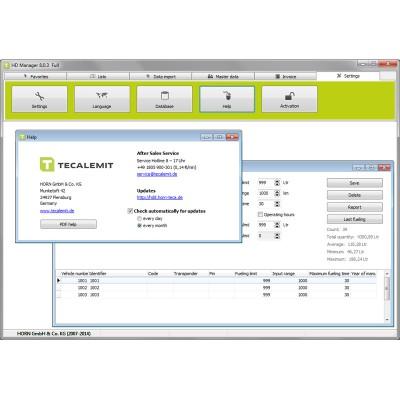 TECALEMIT  - HDM  8 PC 数据管理软件