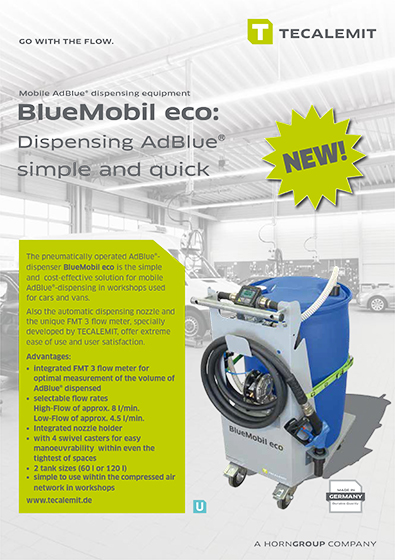 PCL Mobile AdBlue® dispensing equipment BlueMobil eco