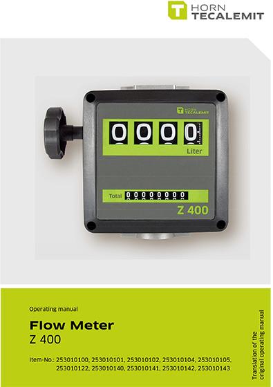 PCL Z 400 Flow Meter