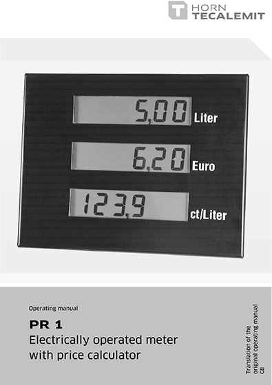 PCL PR 1 Electrically Operated Meter with Price Calculator