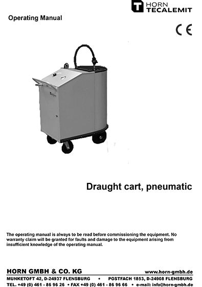 PCL Pneumatic Draught Cart Waste Oil Extraction Unit