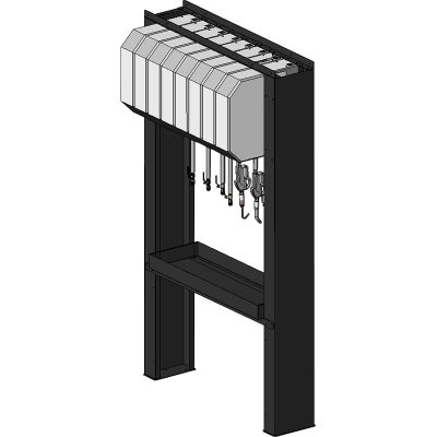 TECALEMIT 030 820 080 - 可连接8个软管卷盘的油枪管